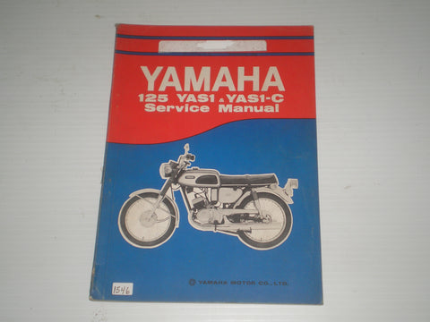 YAMAHA 125 Model  YAS1  YAS1-C  1969   Service Manual  #1546