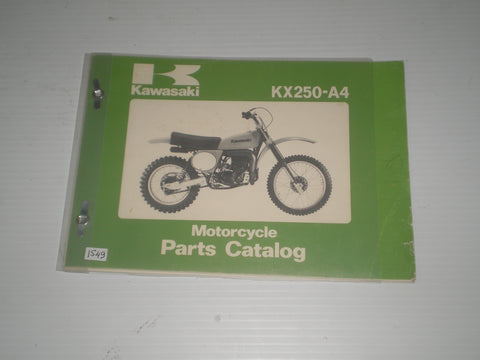 KAWASAKI KX250 A4  1978  Parts Catalogue  99910-1006-01  #894