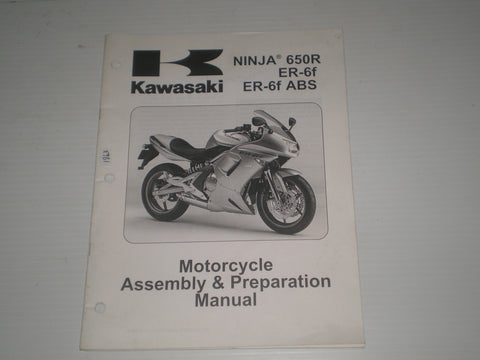 KAWASAKI Ninja 650R / ER-6f / ER-6f ABS / EX650 A6F/B6F 2006  Assembly & Preparation Manual  99931-1462-01  #1863