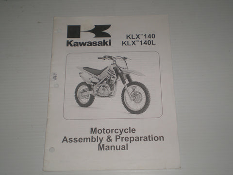 KAWASAKI KLX140 / KLX140L / KLX140 A8F/B8F 2008 Assembly & Preparation Manual  99931-1486-01  #1867