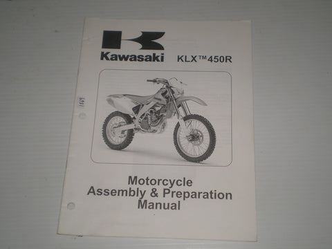 KAWASAKI KLX450R / KLX450A8F  2008  Assembly & Preparation Manual  99931-1479-02  #1869
