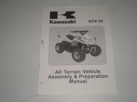 KAWASAKI KFX50 / KSF50 B7F  2007  Assembly & Preparation Manual  99931-1470-01  #1870
