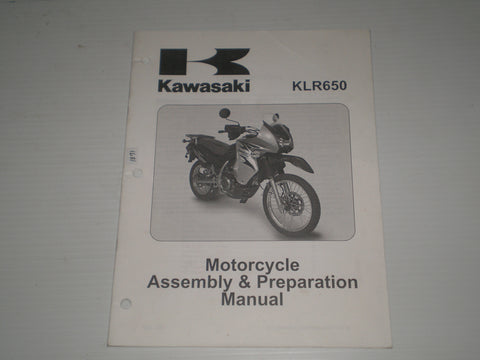 KAWASAKI KLR650 / KL650 E8F  2008  Assembly & Preparation Manual  99931-1478-01  #1871