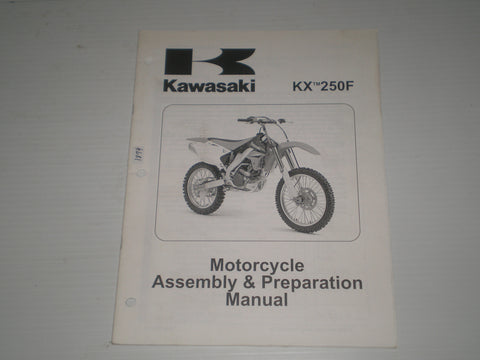 KAWASAKI KX250F / KX250 T6F  2006  Assembly & Preparation Manual  99931-1455-01  #1874