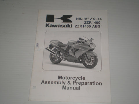 KAWASAKI Ninja ZX-14 / ZZR1400 / ZZR1400 ABS / ZX1400 C8F/D8F 2008 Assembly & Preparation Manual  99931-1485-01  #1877