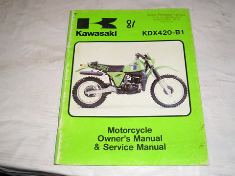 KAWASAKI KDX420 B1 1981  Owner's & Service Manual  99963-0039-01  #19
