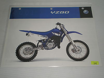 YAMAHA YZ80N  YZ80  2001  Dealer's Information Sheet #104