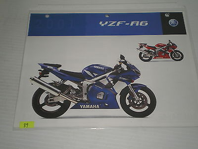 YAMAHA YZF-R6  YZFR6  2001  Dealer's Information Sheet #89