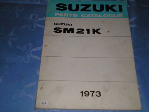 SUZUKI SM21 K  1973  Factory Parts Catalogue  #268