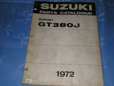 SUZUKI GT380 J 1972  Factory Parts Catalogue  #291