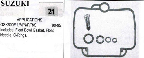 SUZUIKI GSX600F 1990-1995 Carburetor Repair Kit  # 21