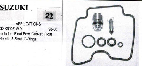 SUZUIKI GSX600F 1996-2006 Carburetor Repair Kit  # 22
