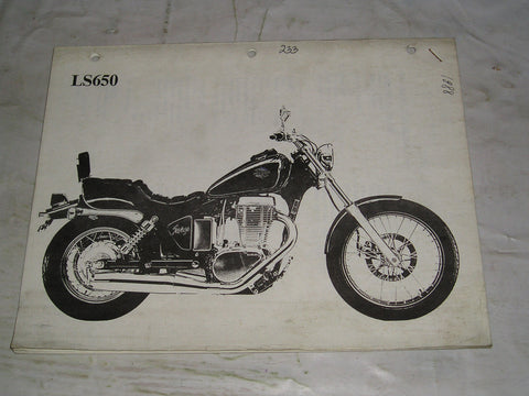 SUZUKI LS650 G 1986   Specifications Manual   #233