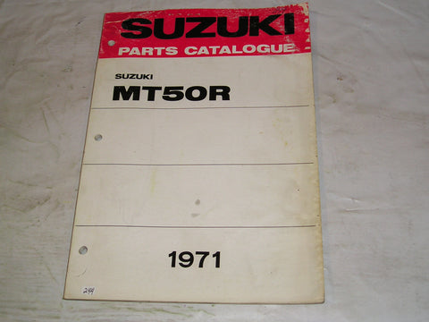 SUZUKI MT50 R 1971  Factory Parts Catalogue   #244