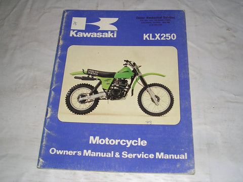 KAWASAKI KLX250 A1 1979  Owner's & Service Manual  99920-1063-02  #24