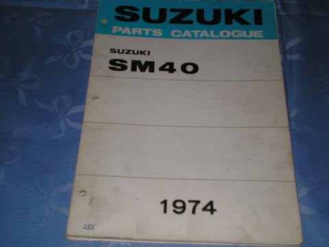 SUZUKI SM40  K L  1974  Factory Parts Catalogue  #255