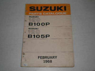 SUZUKI B100  B100P  B105 B105P  1968  Parts Catalogue  #106.2