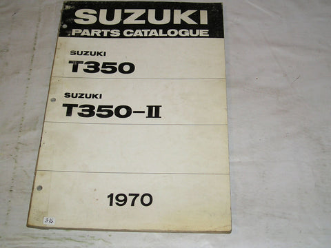 SUZUKI T350  T350-II  Rebel  1970  Parts Catalogue  #316
