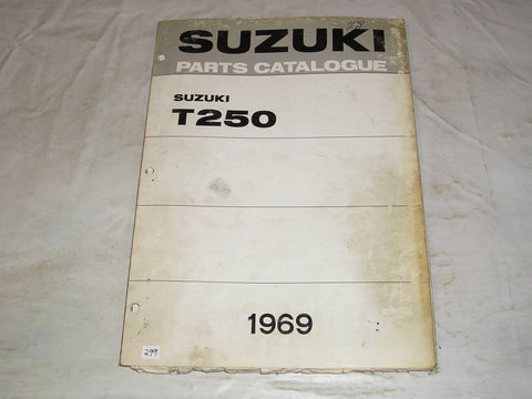 SUZUKI T250 1969   Factory Parts Catalogue    #299