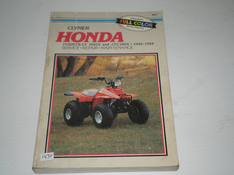 HONDA ATC200 Fourtrax 200SX 1986-1988 Service Manual #1490