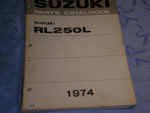 SUZUKI RL250 L 1974  Factory Parts Catalogue  #308
