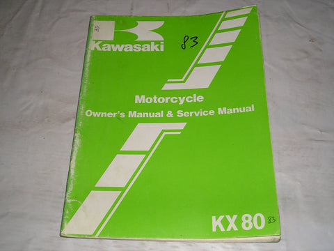 KAWASAKI KX80 E1 F1 1983 Owner's & Service Manual  99920-1213-01  #33