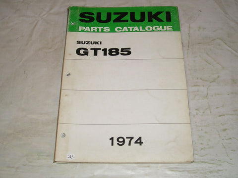 SUZUKI GT185 K L 1974  Factory Parts Catalogue  #283