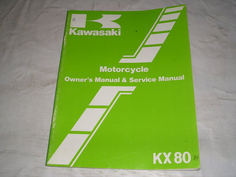KAWASAKI KX80 E2 F2 1984  Owner's & Service Manual  99920-1249-01  #34