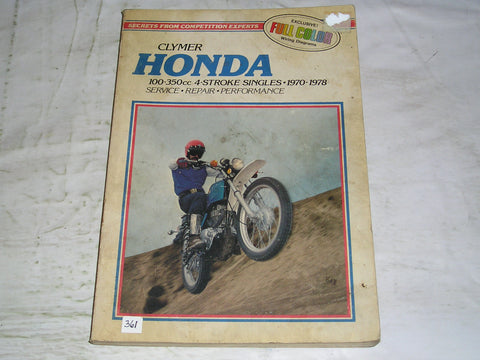 HONDA CB100  CB125  CD125  CL100  SL100  SL125  1970-1978  Clymer Workshop Manual M315   #361