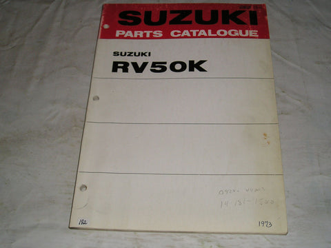 SUZUKI RV50 K 1973  Parts Catalogue  99000-91750  #182