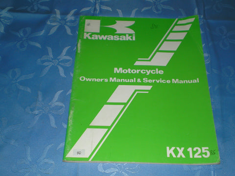 KAWASAKI KX125 D1 1985 Owner's & Service Manual  99920-1289-01  #40