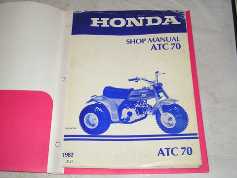 HONDA ATC70 1982  Factory Shop Manual  NO-HM1004  #529