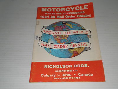 Nicholson Bros. Motorcycles Ltd  1984-1985  Parts & Accessories Catalogue  #E159