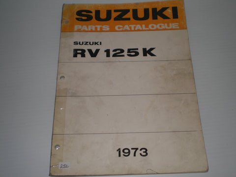 SUZUKI RV125 K 1973  Factory Parts Catalogue   #252