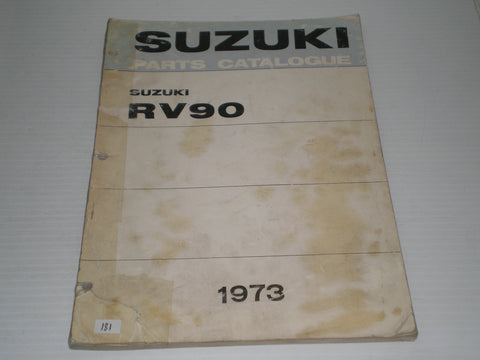 SUZUKI RV90 J K  1973  Factory Parts Catalogue #181