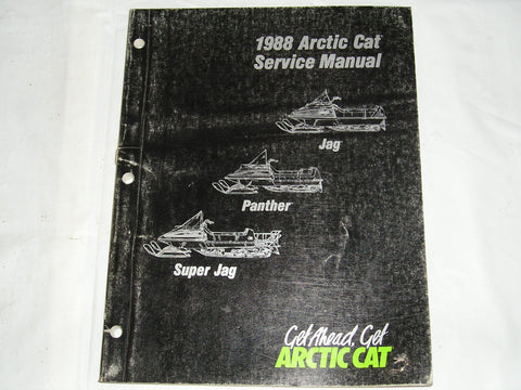 ARCTIC CAT Snowmobile 1988 Jag Panther Super Jag Service Manual #1699