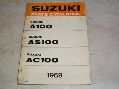 SUZUKI A100  AC100  AS100 1969  Parts Catalogue  #422