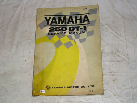 YAMAHA 250  DT1 DT-1 1969  Factory Service Manual  #884