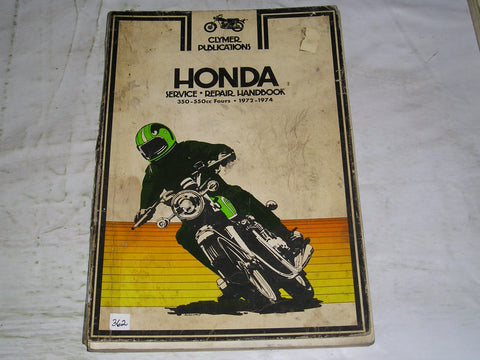 HONDA 350-550 Fours 1972-1974  Clymer Service Manual  M332  #362
