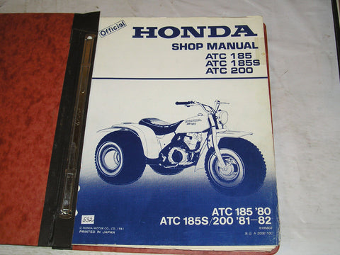 HONDA ATC185  ATC200 1980-1982  Shop Service Manual  6195802  #532