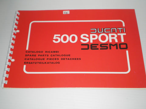 DUCATI 500  Sport Desmo  Spare Parts Catalogue  #E52
