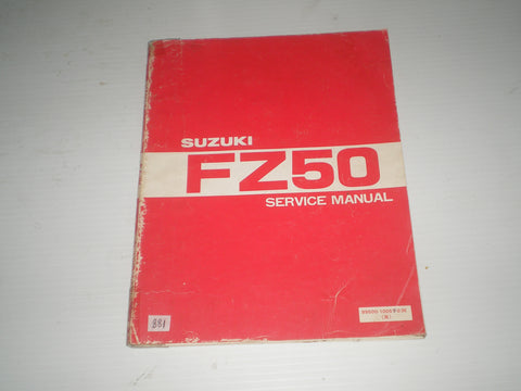 SUZUKI FZ50  1980  Service Manual  99500-10051-03E   #881