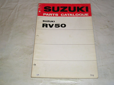 SUZUKI RV50 K L 1973 1974  Parts Catalogue  99000-91751  #249