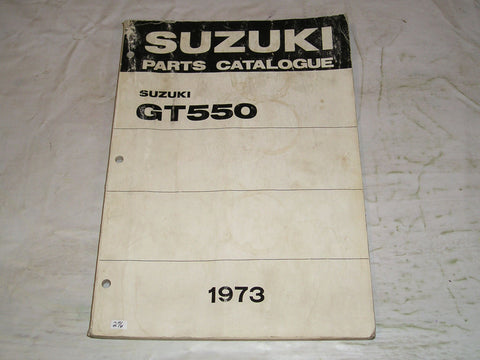 SUZUKI GT550 J K  1973  Factory Parts Catalogue  #276