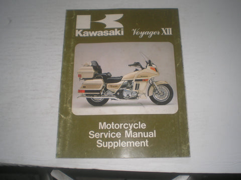 KAWASAKI Voyager XII  ZG1200 B1  1987  Service Manual Supplement  99924-1089-51  #1998