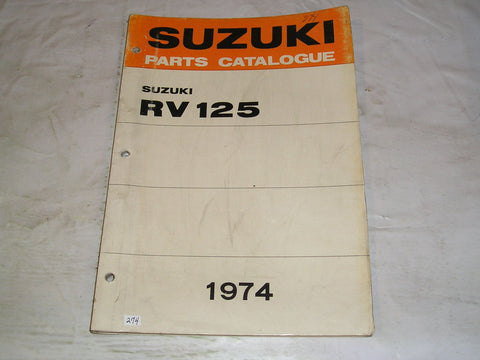 SUZUKI RV125 K L 1974  Factory Parts Catalogue  #274