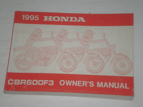 HONDA CBR600F3 S 1995  Owner's Manual  00X32-MAL-6000  32MAL600  #A155