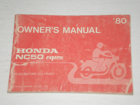 HONDA NC50 A Express  1980  Owner's Manual  3214751  #A166