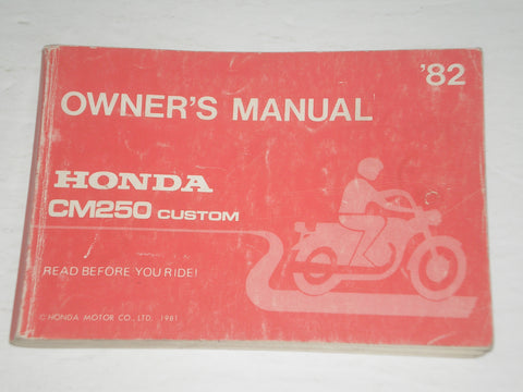 HONDA CM250C C Custom  1982  Owner's Manual  32KB400  #A167