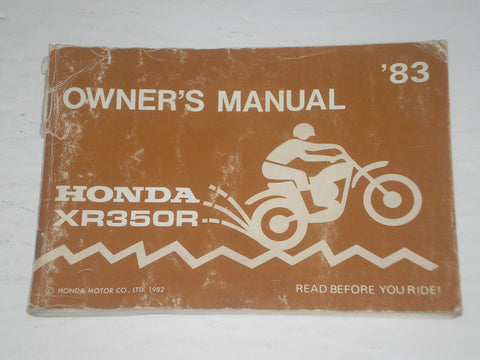 HONDA XR350R D 1983  Owner's Manual  00X31-KF0-6002  31KF0600  #A170